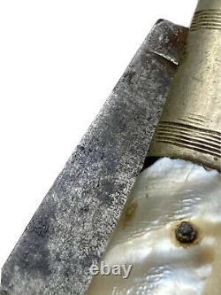 Couteau Pliant Ancien Chatellerault Navaja Coutellerie Époque XIX ème Knife