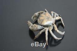 Crabe en bronze Japonais époque fin XIXème