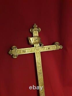 Crucifix ancien en bois doré époque XIX ème s