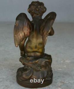 Cupidon Bronze patiné doré époque fin XIXème