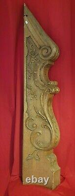 Départ d'Escalier En Chêne Sculpté, époque XIX ème s