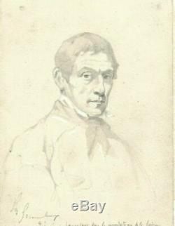 Dessin Ancien époque XIXème siècle Dessin Ancien Portrait homme