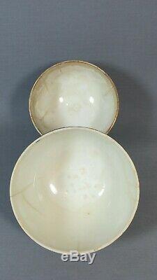 Deux Bol Faïence Choisy-le-roi, Rare Décor Style Renaissance Époque Xixème