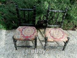 Deux miniatures chaises Napoléon III poupée Jumeau époque fin XIXème