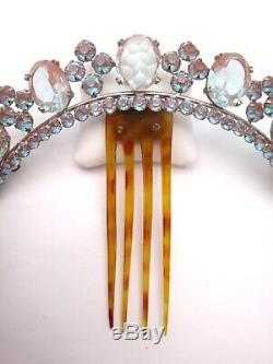 Diadème ou Tiare orné de Saphiret époque XIXeme