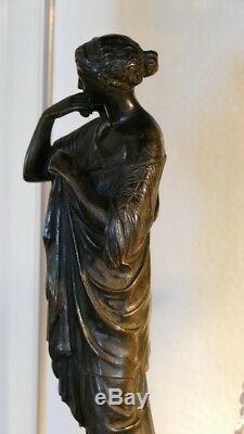 Diane De Gabie, Sculpture En Bronze à Patine Brune, époque XIX ème