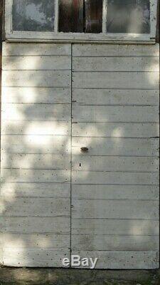 Double Porte d'Entrée En Bois Clouté Avec Imposte, époque Fin XVIII ème, XIX ème