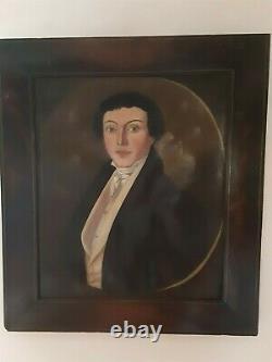 Ecole française Epoque XIXème vers 1830 Portrait d'un dandy Huile sur toile