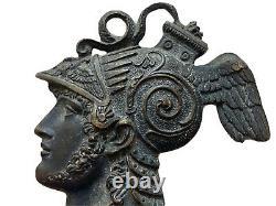 Éléments Ornementaux Bronze Personnages Hermès Athéna Mythologie Époque XIX ème