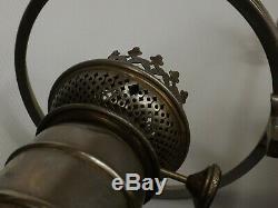 Epoque, XIXème siècle. Quinquet, Belle Lampe à Huile, Pétrole. Prise Serpents