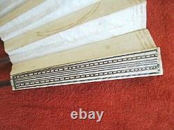 Eventail Ancien XIX Eme Siecle Peint Main / Bois Exotique / Os Époque Empire