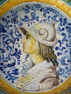 Faience de CASTELLI plat en Majolique Italienne époque XIXeme