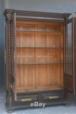 Fausse paire de bibliothèque Indo-Portugaise en palissandre époque XIXème