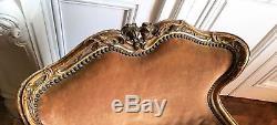 Fauteuil de style Louis XV époque XIXème siècle bois doré rare