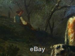G. Baudry Paysage Pastoral Epoque Louis Philippe HST XIXème siècle