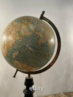 Globe Terrestre Par J. Forest Epoque Fin XIXeme
