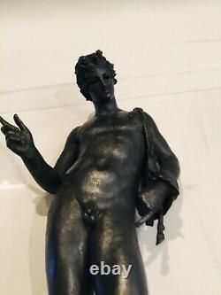 Grand Bronze Narcisse De Pompéi Grand Tour, époque XIX ème 61 Cm