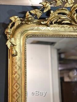 Grand Miroir 186x109 Ancien D Epoque XIX Eme. Livraison Paris 80