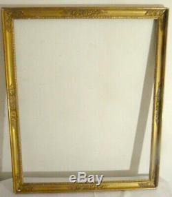 Grand cadre doré époque Empire frises raies de cur XIX EME 78 x 64cm
