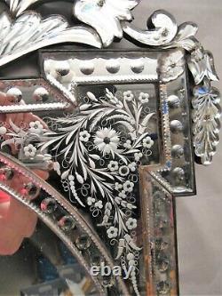 Grand miroir de Venise époque XIX ème siècle