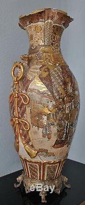 Grand vase Japonais en Satsuma époque XIXème