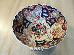 Grande Coupe En Porcelaine Japonaise Imari / Epoque Meiji Fin XIX Eme