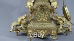 Grande Lampe Style Louis XVI En Bronze Doré, époque XIX ème