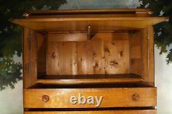 Grande commode meuble de notaire époque XIX ème, métier