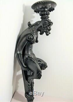 Grande console satirique sellette d'applique bois sculpté époque XIX ème siècle