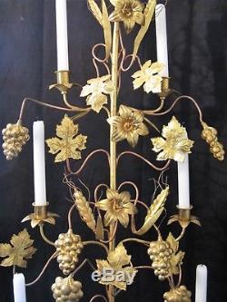 Grande paire de candélabres d'église 7 lumières époque XIX ème siècle