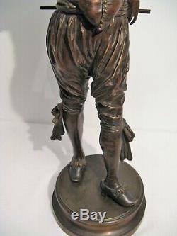 Grande sculpture bronze polichinelle signée G. Gueyton époque XIX ème siècle