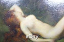 HUILE SUR PANNEAU ÉPOQUE XIXème NU ATTR. À HENNER, JEAN-JACQUES (1829-1905)