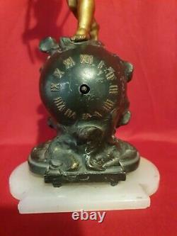 Horloge Ancienne angelot époque fin XIX ème s
