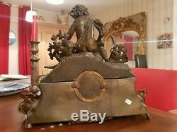 Horloge ancienne en régule époque XIX ème s