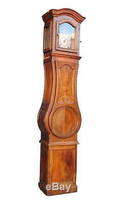 Horloge comtoise d'époque XIXème mouvement au coq