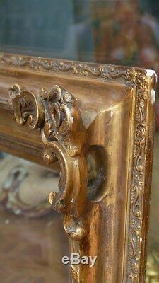 Important Cadre De Style Louis XV En Bois Et Stuc Doré, époque XIX ème