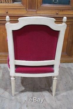 Important salon de style Louis XVI bois laqué blanc époque fin XIX ème siècle