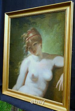 J. A. Vallin Portrait Nu de Femme Epoque Ier Empire début du XIXème siècle HST