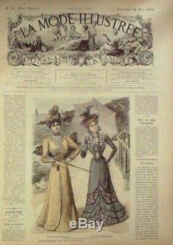 JOURNAUX de Mode-1899-d'époque sans patrons 51 x LA MODE ILLUSTREE