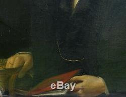 Joseph Mattau Portrait d'Homme Epoque Louis Philippe XIXème siècle HST