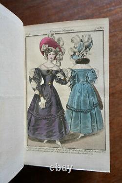 Journal Des Modes Costumes Parisiens, 187 Planches En Coloris Epoque 1829-1830