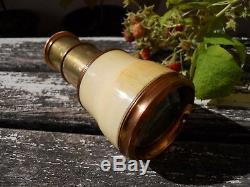 Jumelle lorgnette de théâtre époque XIXème métal doré, mini longue vue