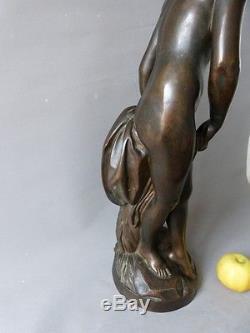 La Baigneuse De Falconet, Grand Bronze à Patine Brune, époque XIX ème