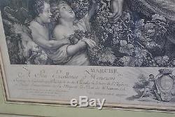 La marche de Silène Gravure ancienne époque XIXème