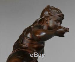 La source par Mathurin Moreau bronze époque XIXème