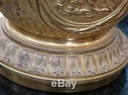 Lampe En Bronze Doré De Style Louis XVI, Avec Décor à l'Antique, époque XIX ème