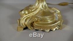 Lampe Flambeau En Bronze Doré De Style Louis XV, époque XIX ème