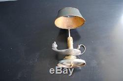 Lampe bouillotte de style Empire époque XIXème métal argenté