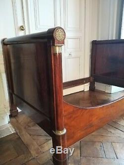 Lit époque Premier Empire en acajou XIXème bed mahogany period 19th