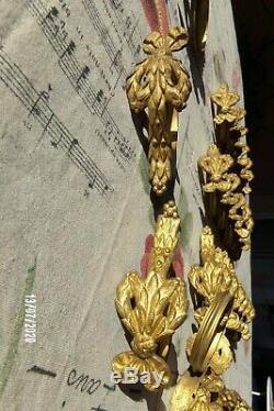 Lot 29 pieces! Anneaux ancien rideau bronze d'époque fin XIXème noeud Louis XVI
